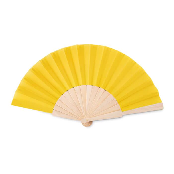 Houten-waaiers-bedrukken-geel