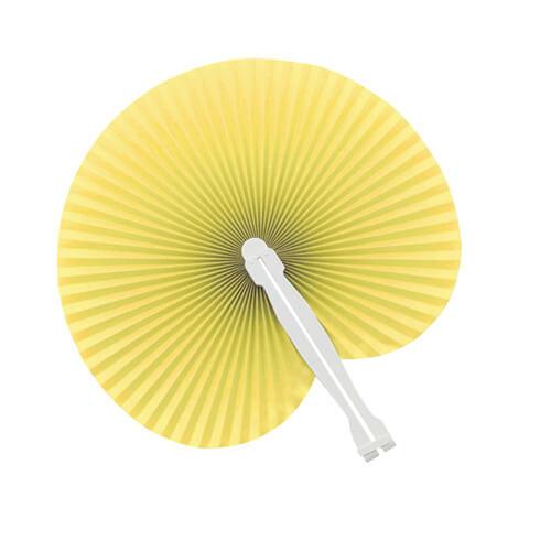 Papieren-waaiers-bedrukken-geel