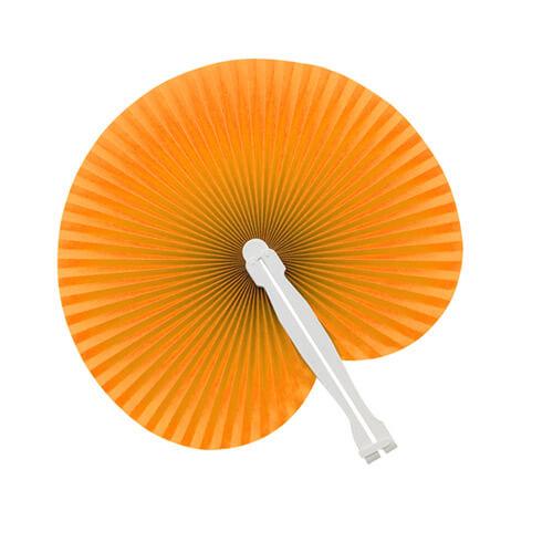 Papieren-waaiers-bedrukken-oranje