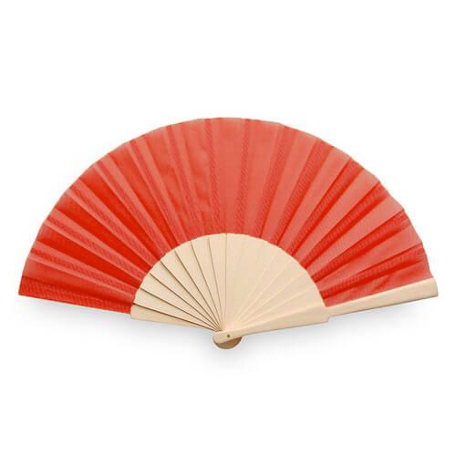 Waaiers-bedrukken-houten-handvat-rood