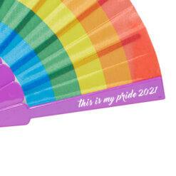 Waaiers-bedrukken-regenboog-drukpositie-met-logo